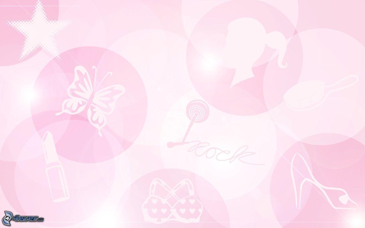 Fond rose for Sfondi con farfalle