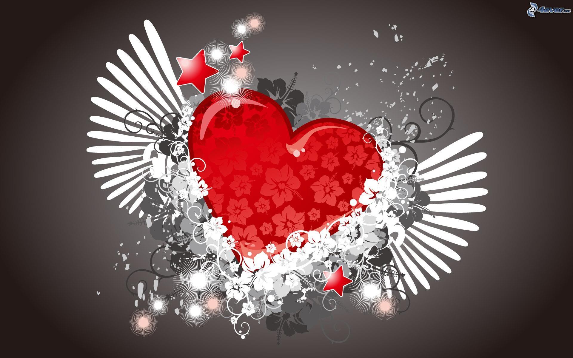 C ur avec des ailes - Images avec des coeurs ...