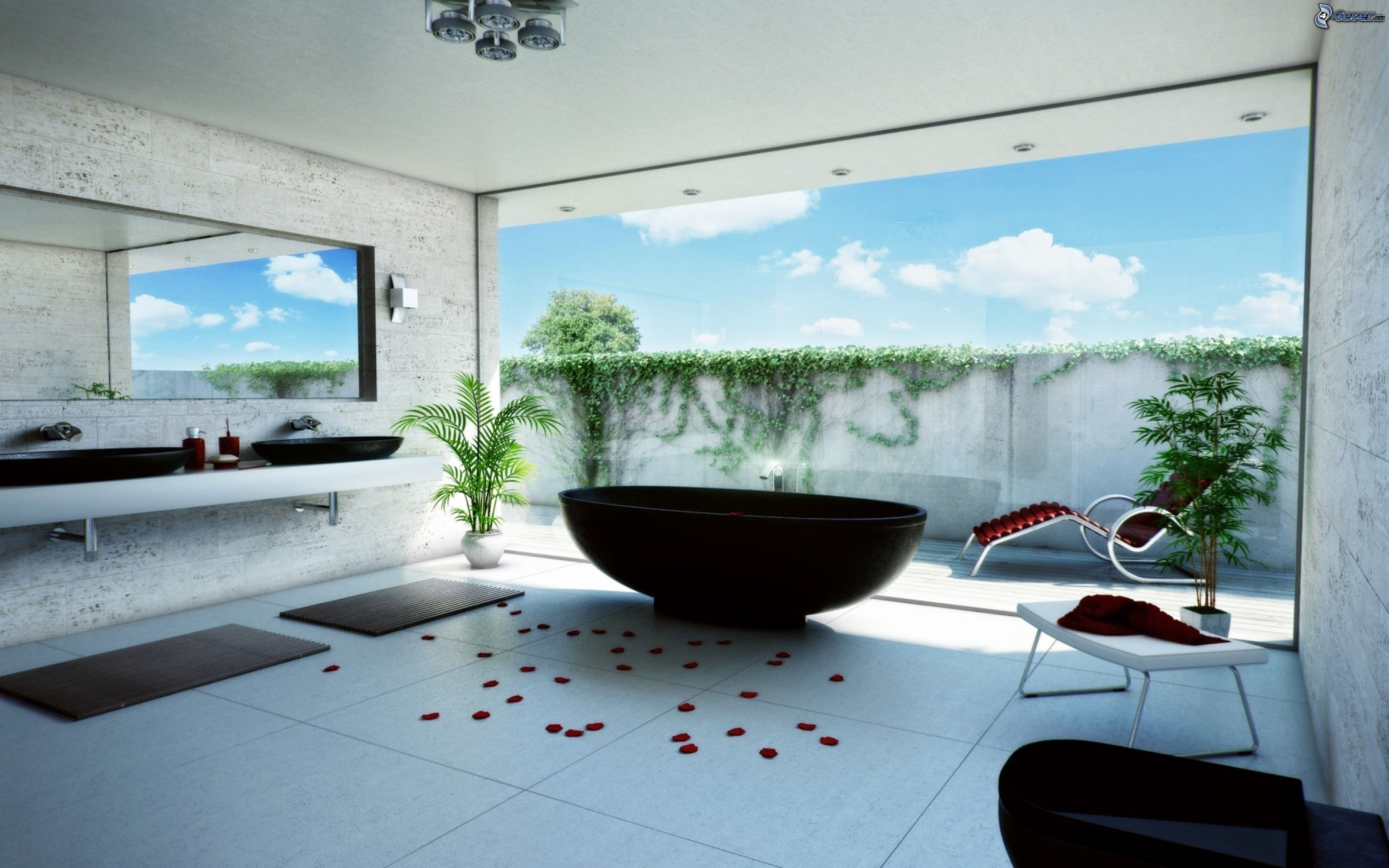 Salle de bains for Bathroom designs hd images