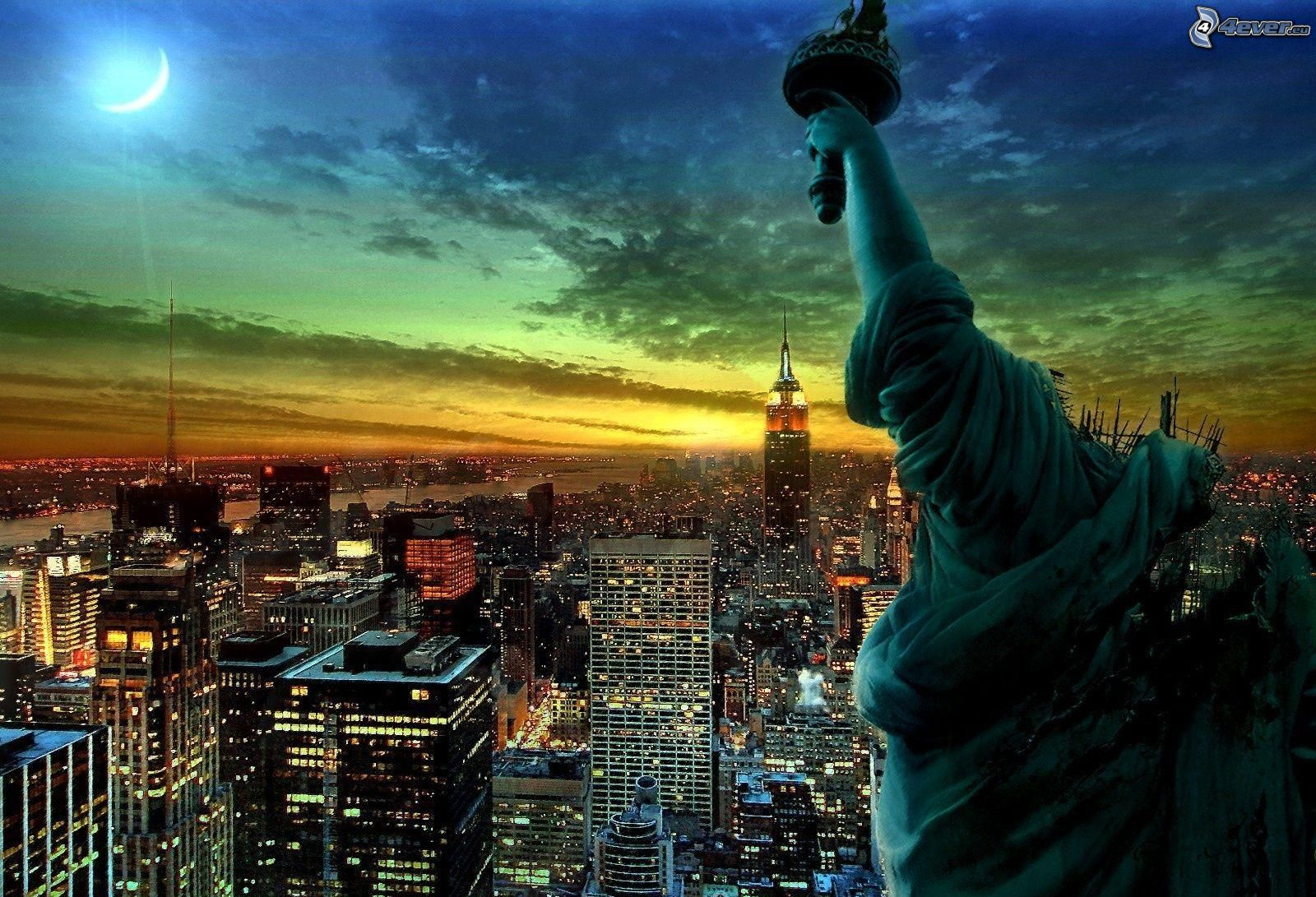 New York Usa Statue de la