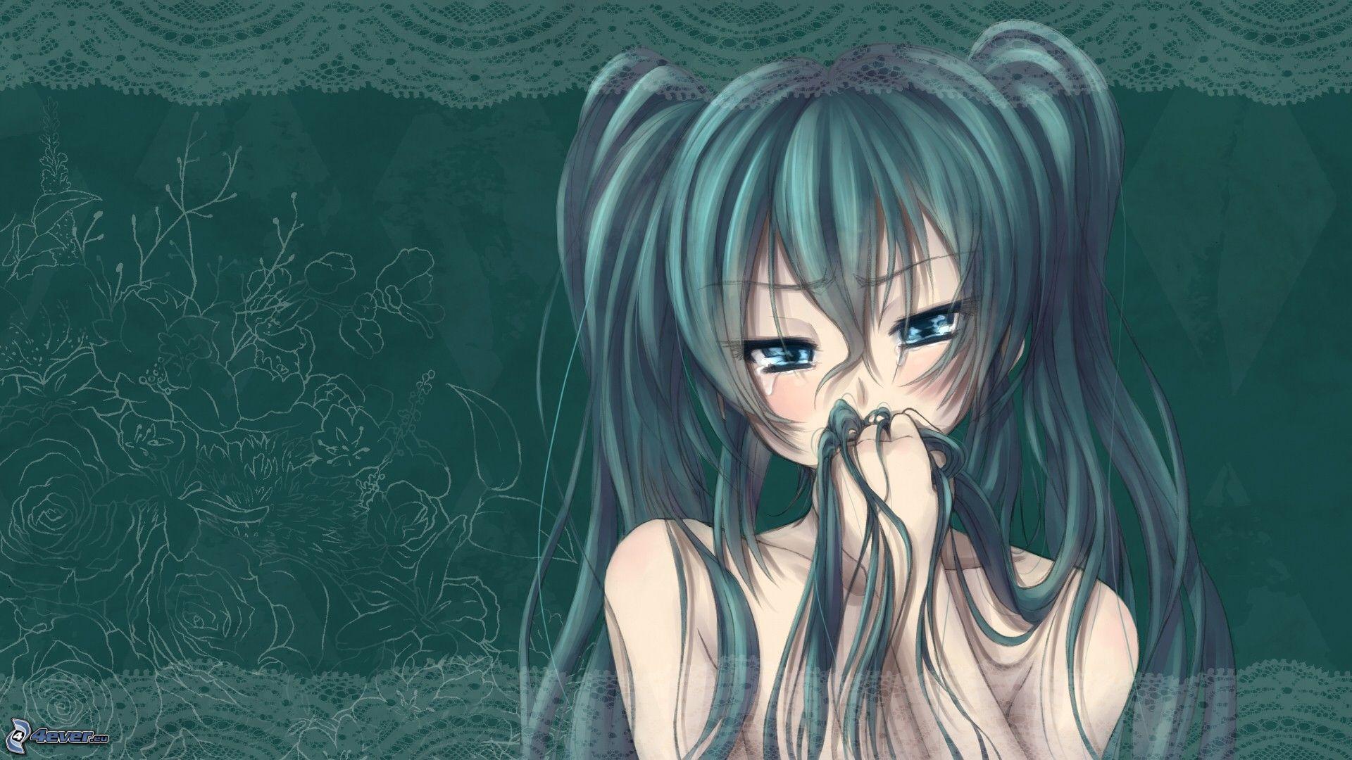 Anime fille - Image de manga triste ...