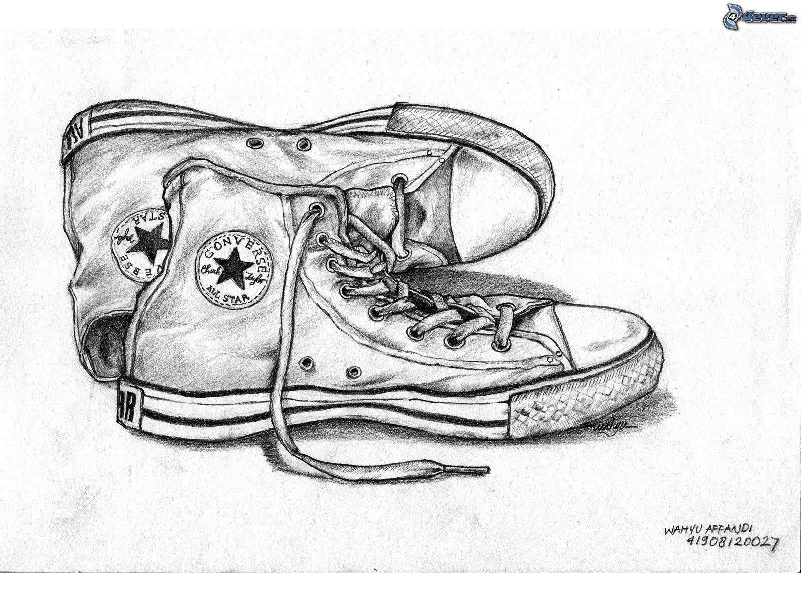 basket converse dessin