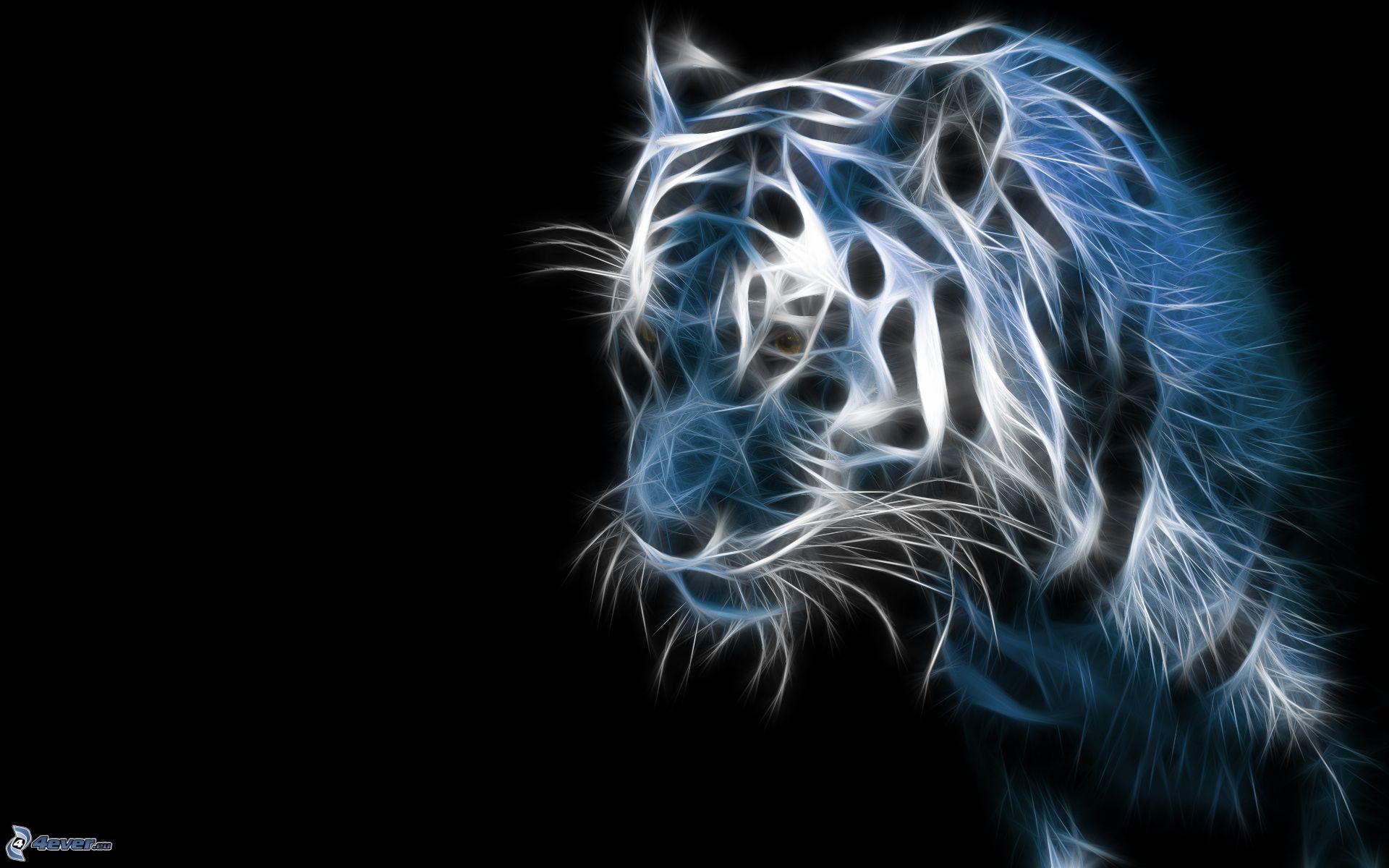 tiger fractal cats e - photo #43