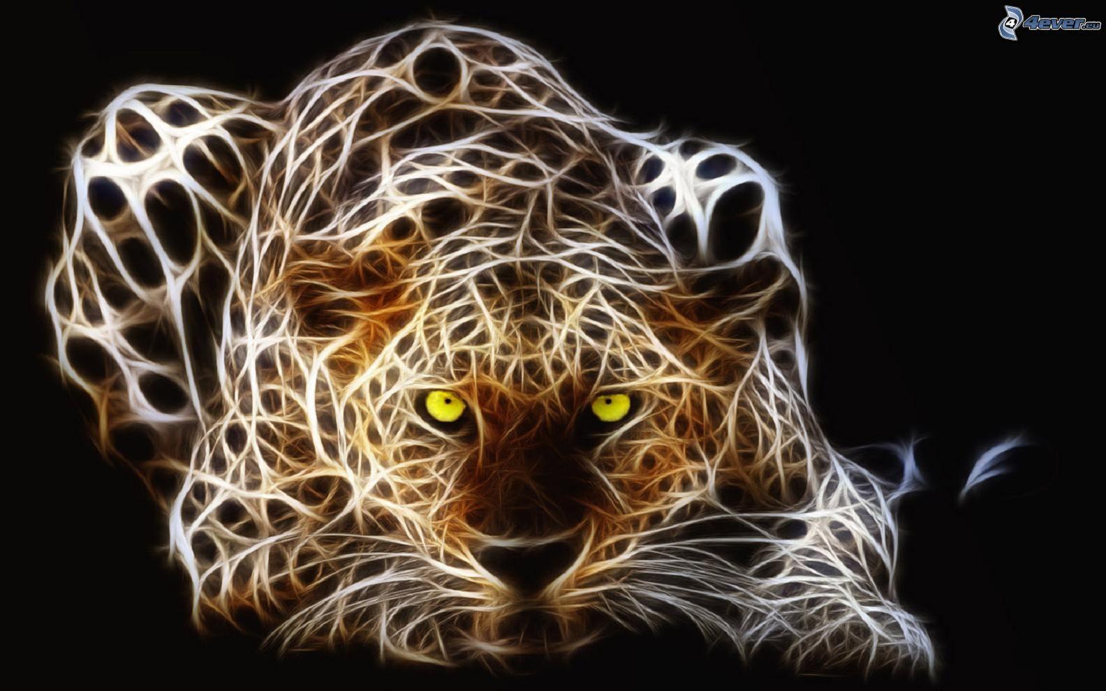 tiger fractal cats e - photo #1