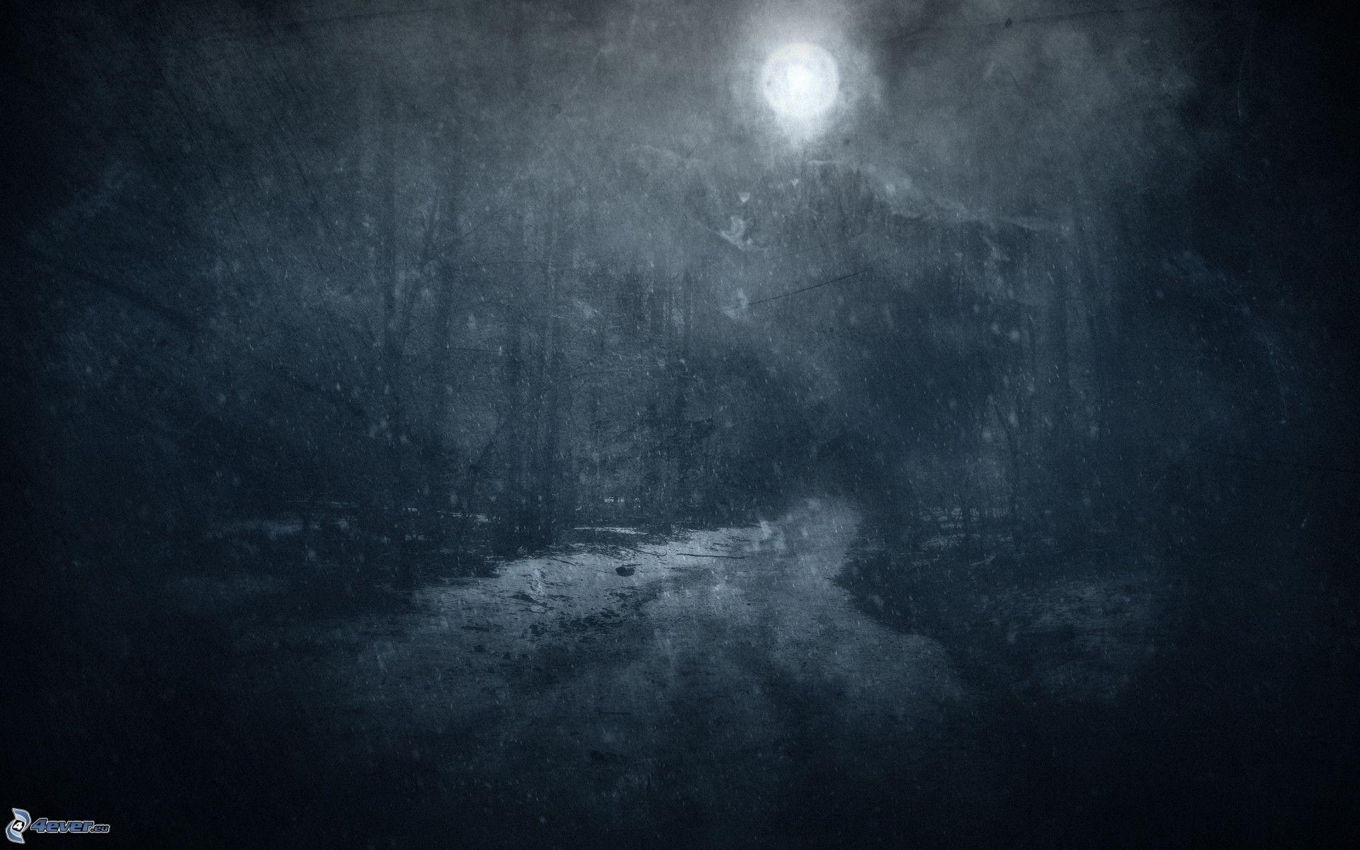 paysage sombre