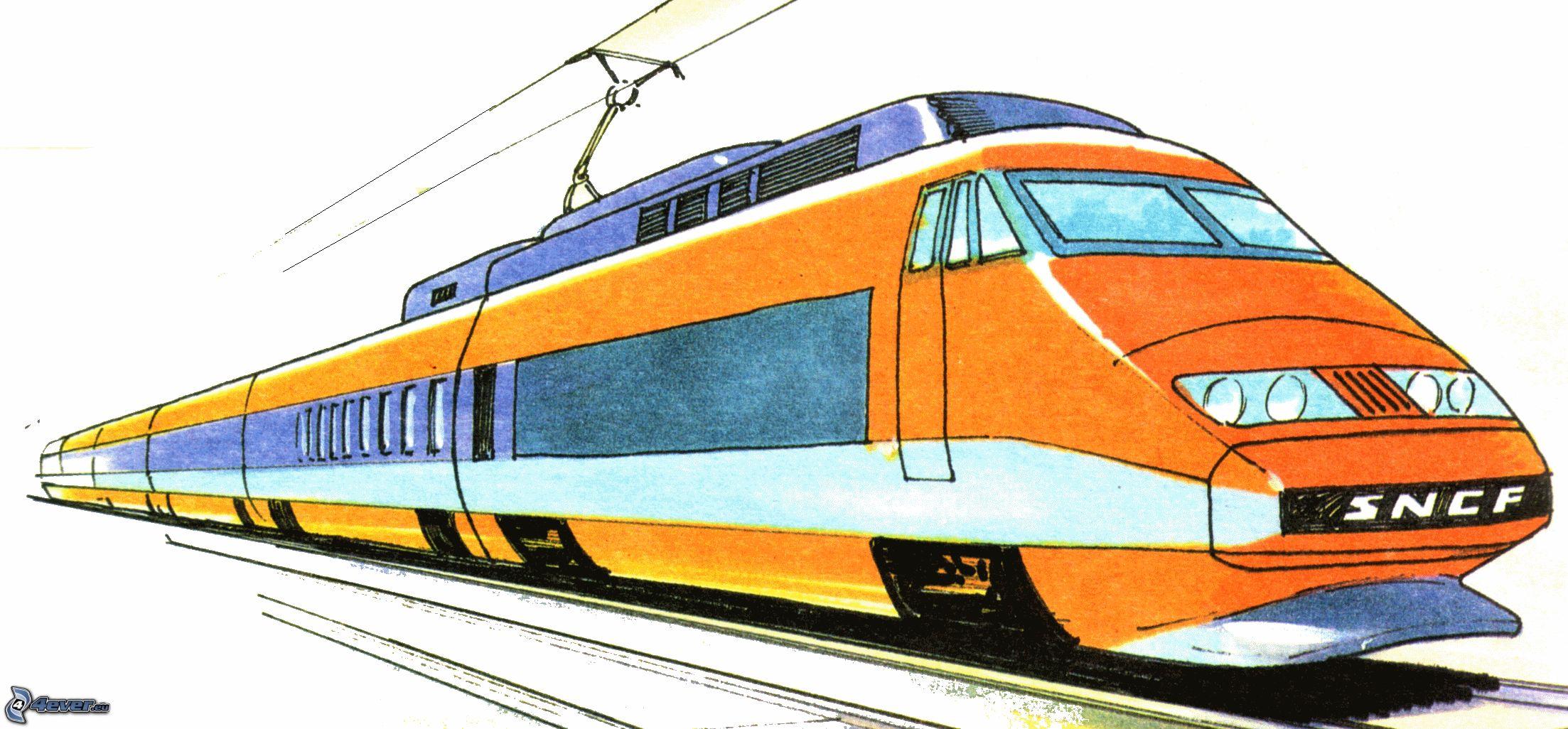 Tgv - Train en dessin ...