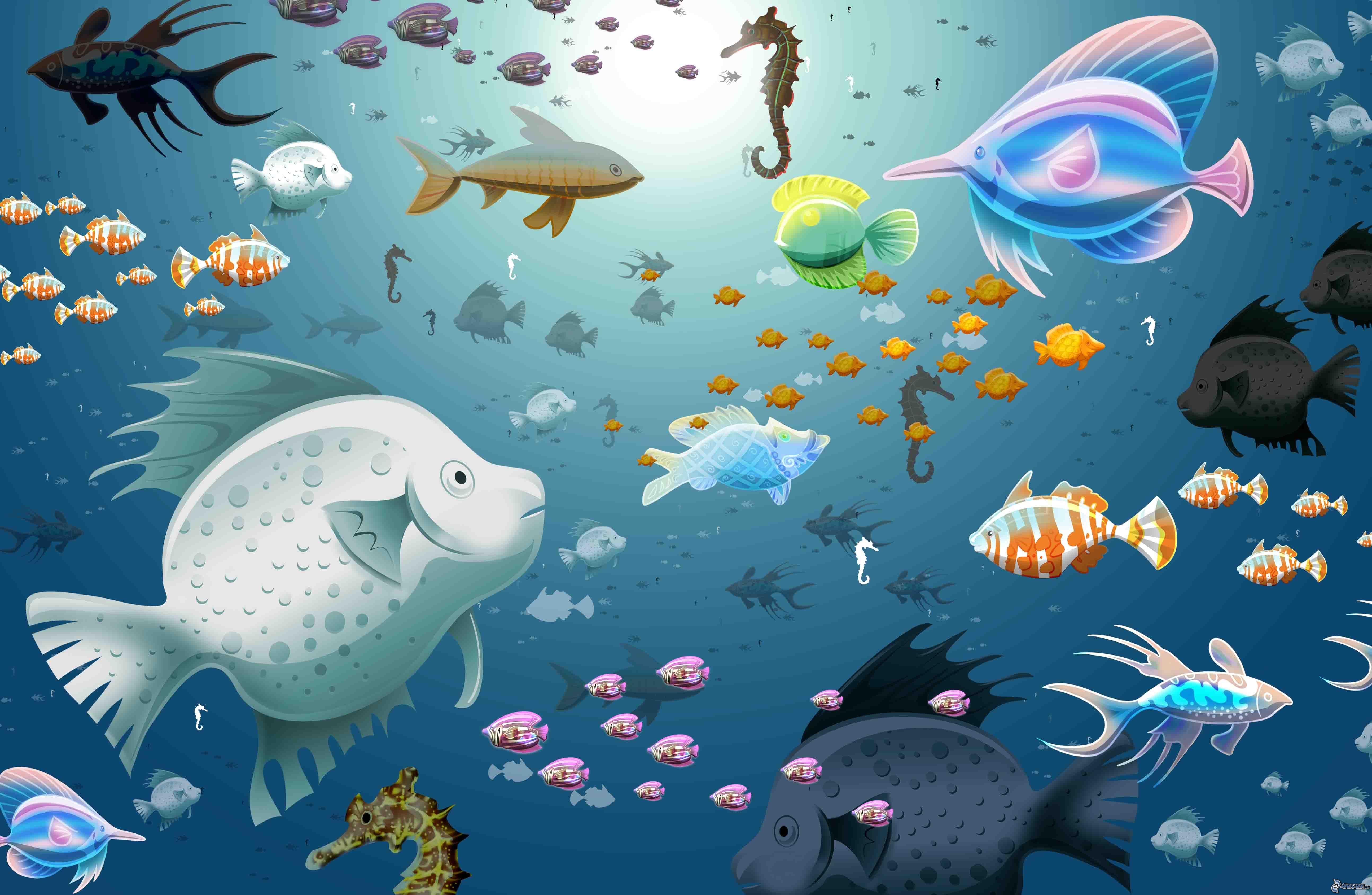 Заставкина подводный мир рабочий стол 7