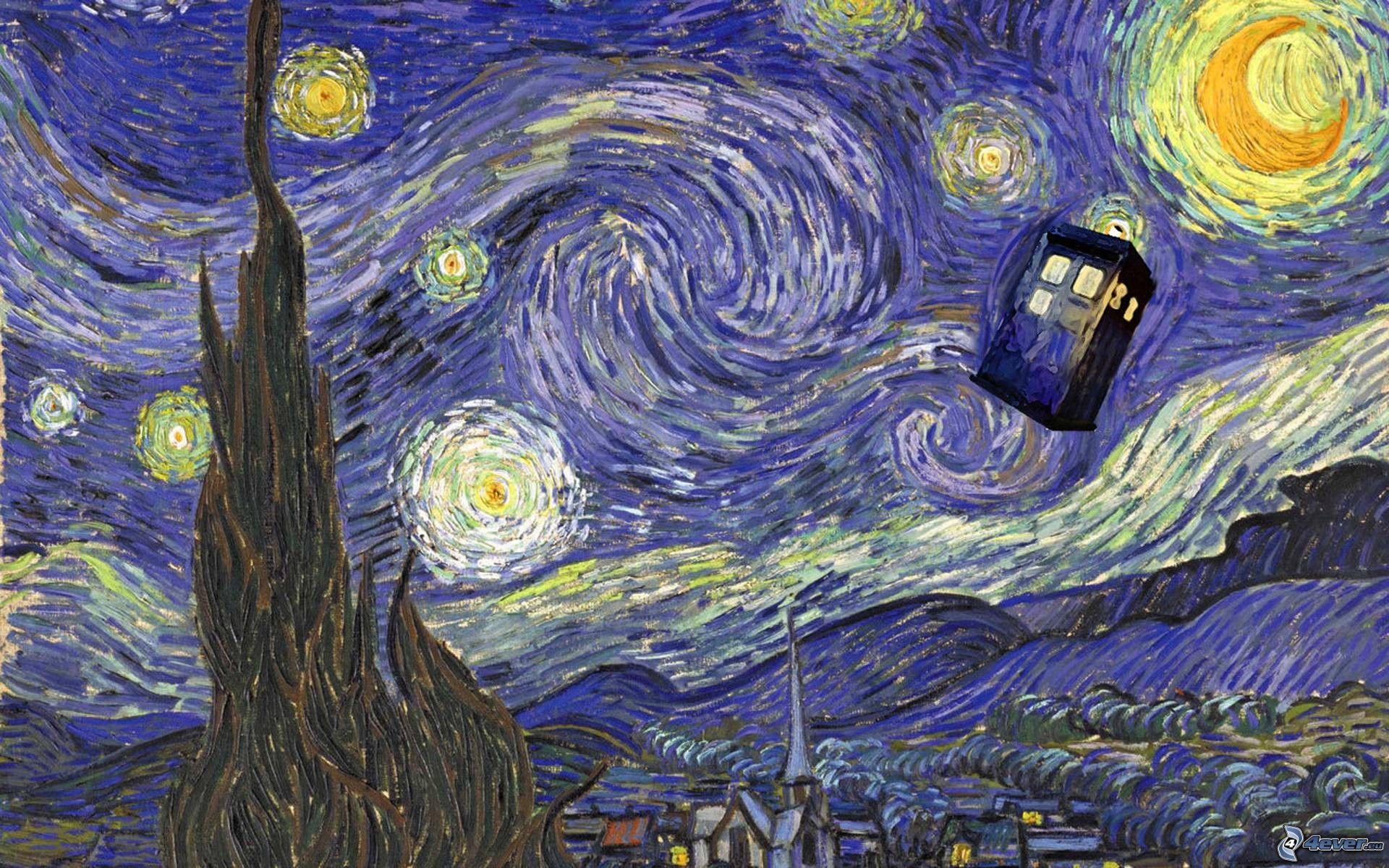 nike air force 1 bianco nero - Vincent Van Gogh - La Nuit ��toil��e