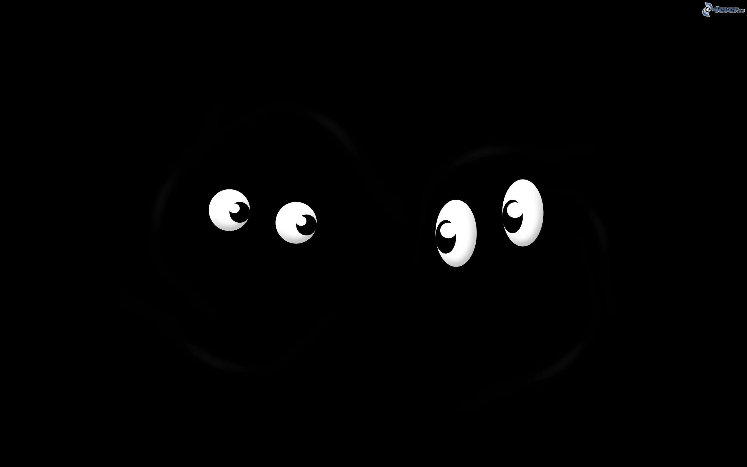 Yeux - Dessin fond noir ...