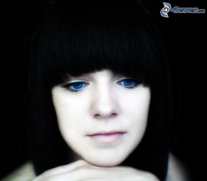 Fille - Fille yeux bleu ...