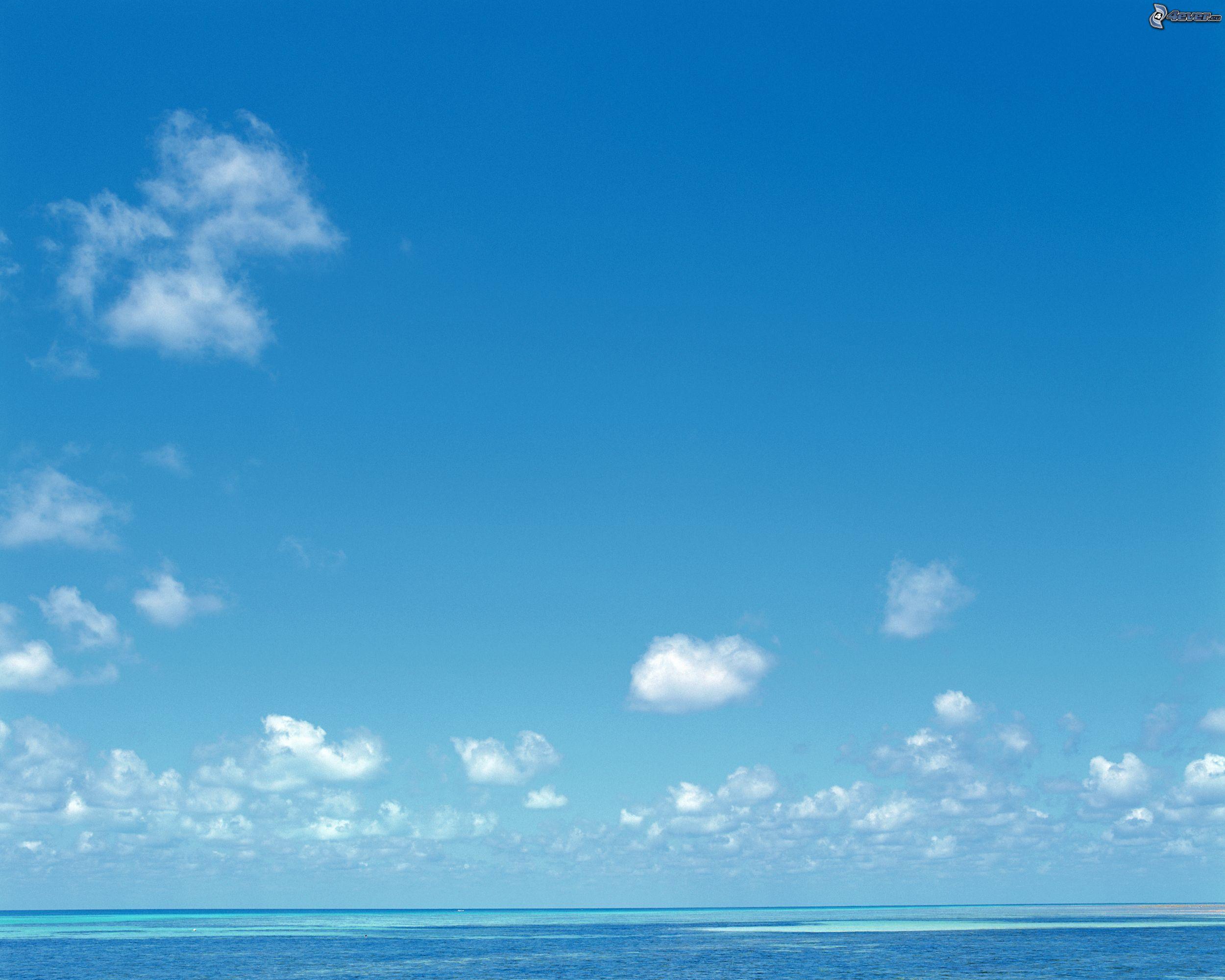 La mer azur e en t - Image ciel bleu clair ...